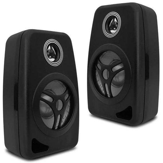 Kit 2 Caixas Acústica Som Ambiente Casa Sala Loja Bar Orion