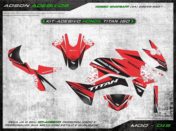 Kit Adesivo Honda Cg Titan 160 Kit Gráfico Honda Racing