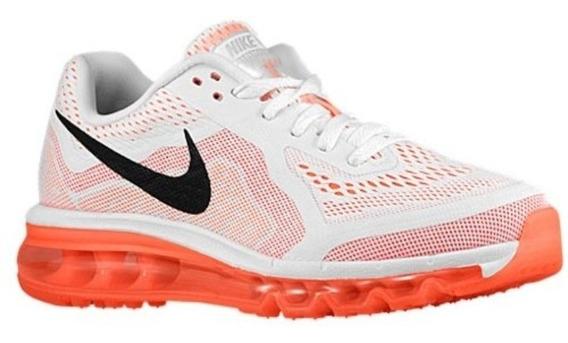 Tênis Nike Air Max 2014 Branco/laranja Original