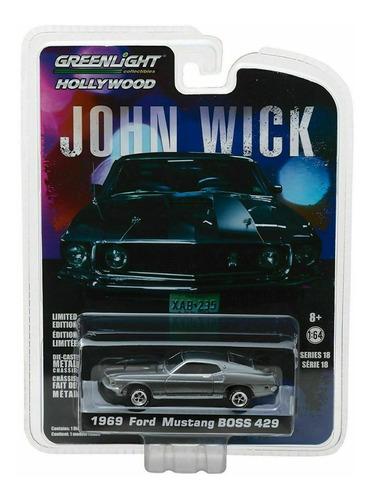 Vehículo Escala 1:64 - Ford Mustang 1969 - John Wick