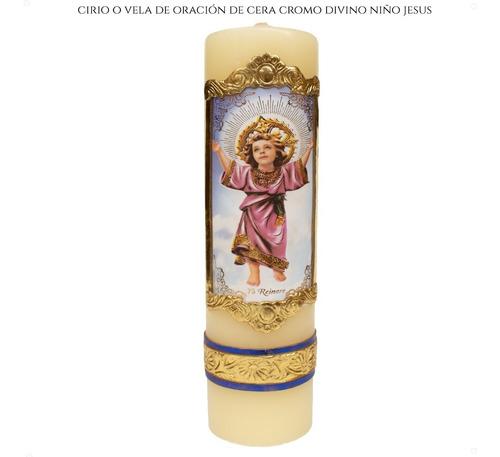 Imagen 1 de 5 de Cirio O Vela De Oración Del Divino Niño Jesus