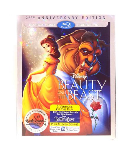 Disney La Bella Y La Bestia Edición Aniversario Bluray Dvd