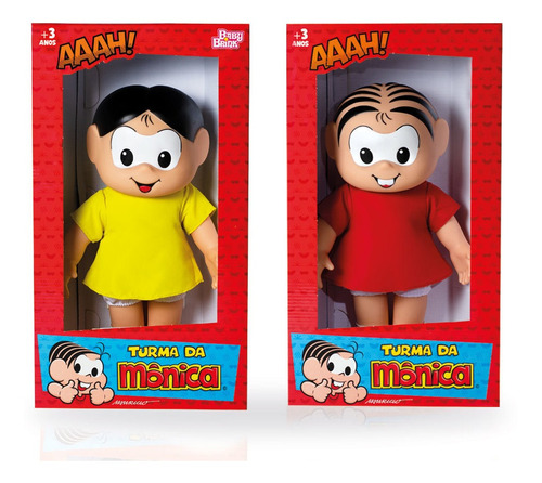 Kit Bonecos Monica E Magali Turma Da Monica Clássicos Baby B