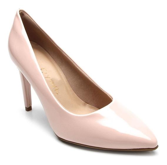 Sapato Scarpin Crysalis Rosa Quartzo Verniz