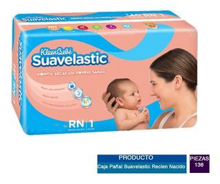 Caja Pañal Suavelastic Recien Nacido Con 8 Paq. (136 Pz)