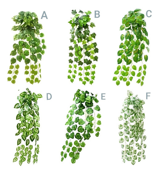 Planta Colgante Largo Hiedra Potus Decoración Artificial