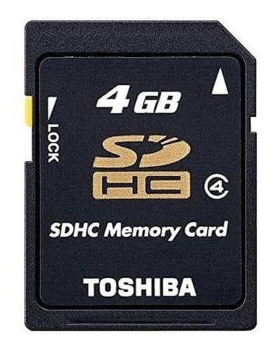 Cartão De Memória Sd 4gb Sdhc Toshiba Ou Lexar Original