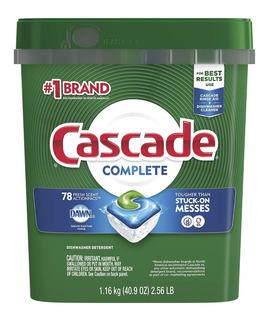 Detergente Lavavajillas Dishwasher Cascade Complete 78 Pzas