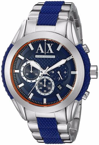 312ca09241bc Reloj Armani Exchange Azul Plata Original -   4