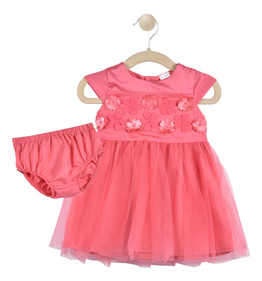 Set 2 Pzas Vestido Y Calzoncito Carters Coral Niña 16531410