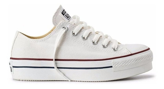 Zapatillas Converse All Star Plataforma Blanco - Originales