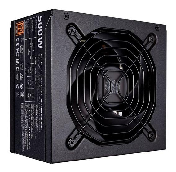 Fonte Atx Mwe 500w 80 Plus Bronze Cooler Master