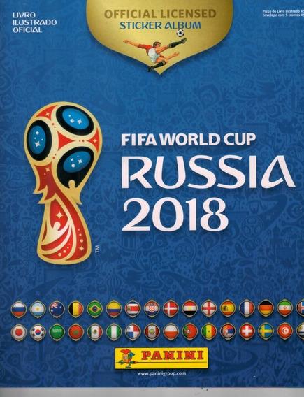 Álbum Capa Dura Copa Rússia 2018 - Completo Para Colar