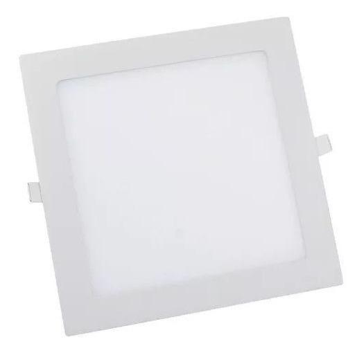 Painel Plafon 24w Luminaria Led Quadrado Embutir