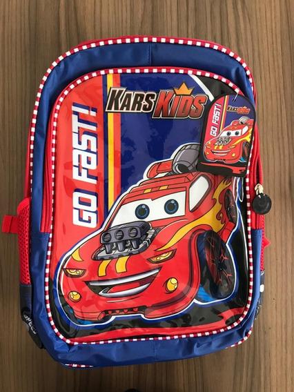 Mochila Escolar Infantil Carro Kars Kids Relevo Grande