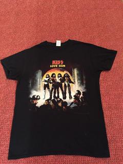 Polera Rock Vintage Kiss Love Gun Album Acdc Purple Queen