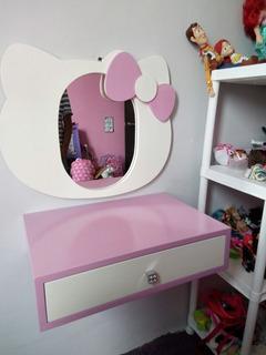 Tocador Infantil/ Mueble Para Niños/ Cómoda Con Espejo