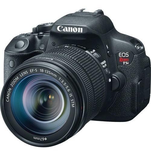Câmera T5i Canon+case+lente 18-135+filtro Uv + 32gb+bat Extr