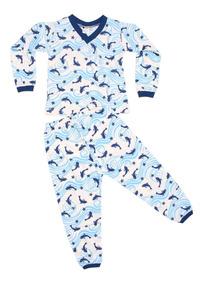 Lote 5 Pijamas Estampado Algodão Menino Manga Longa Revenda