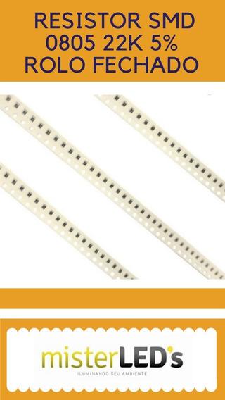 5000 Pçs Resistor Smd 0805 22k 5% Rolo Fechado (5065)