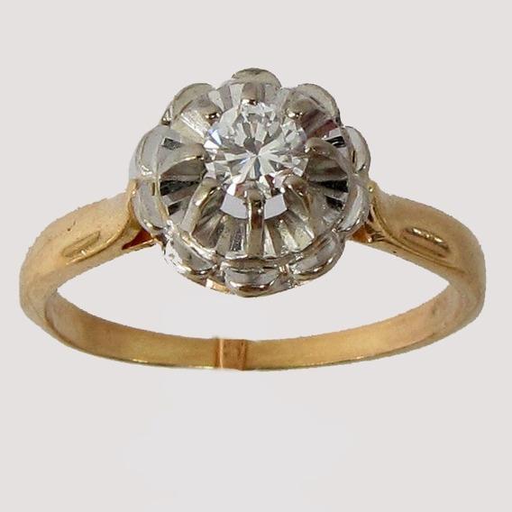 2523 Anel Solitário Com Diamante De Ouro 18k 750