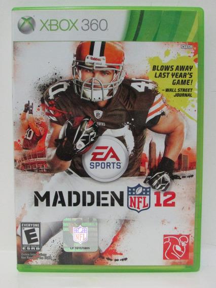 Madden Nfl 12 - Game Xbox 360 Original Mídia Física
