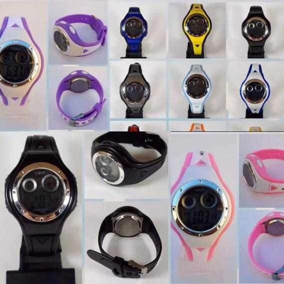 Kit 10 Relógios Unissex Digital Infantil Lida No Atacado