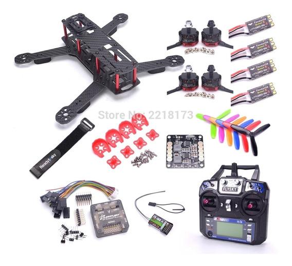 Drone Qav250+rádiofsia6b+carregador+baterias+omnibusf4
