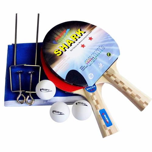 Kit Tênis Mesa Ping Pong Raquete Rede Bola Suport Klopf 5031