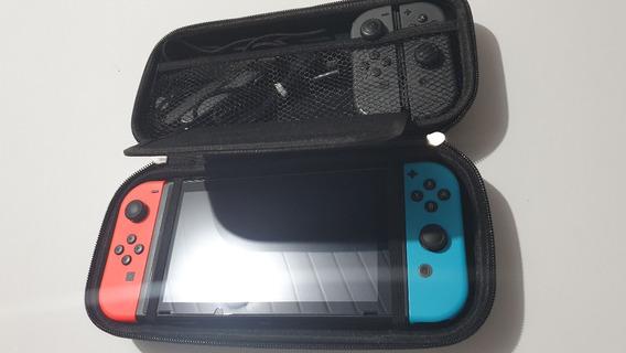 Estojo Case Nintendo Switch Cabe Jogos Cabos Acessórios