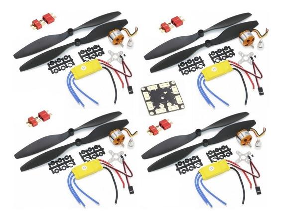 4 Kits Motor Brushless 1000k Esc30a Helice1045 +distribuidor