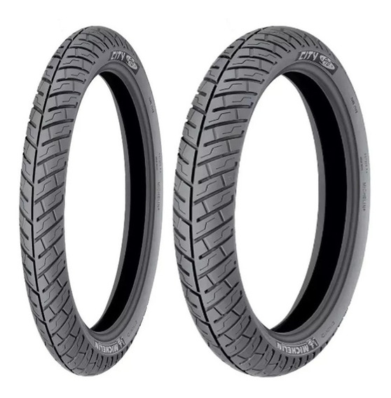 Par Pneu 275-18 + 90/90-18 Michelin City Pro Ybr Factor 125