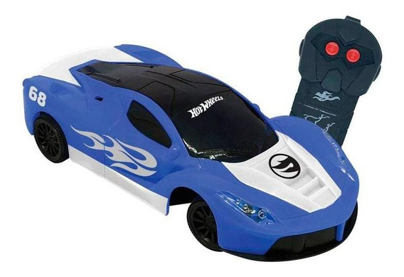 Carro Controle Remoto Speed Team Hot Wheels Azul - Candide