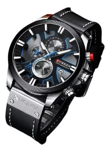 Relógio Masculino Curren Original Esportivo Couro S.2020