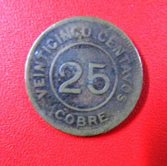 Guatemala Moneda 25 Centavos 1915