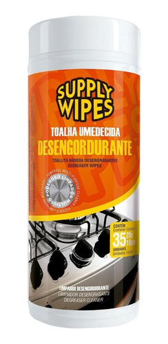 Lenços Umedecidos Desengordurante Com 35 Uni Suppy Wipes