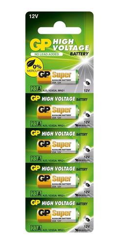 Imagem 1 de 7 de 05 Pilha Bateria 23a 12v Gp Super Controle Alarme Portão