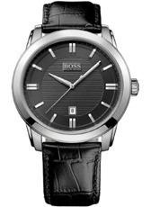 Relógio Hugo Boss Masculino - Hb 176.1.14.2486 - Couro Crocodilo Preto