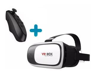 Pack Lentes De Realidad Aumentada Vr Box 360° + Control Remo