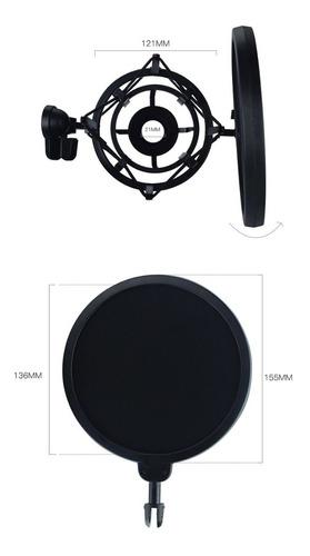 Imagen 1 de 3 de Kit Filtro Anti Pop +soporte Araña Para Micrófonos Condenser