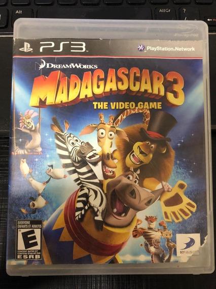 Jogo Ps3 Madagascar 3 Mídia Física Original Envio Imediato!!