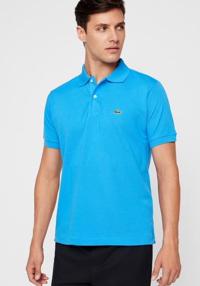 Camiseta Lacoste Gola Polo Azul Importada Masculina Live Top