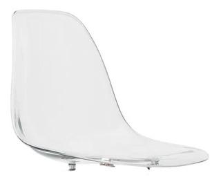Assento Cadeira Charles Eames Wood Design Transparente Dsw