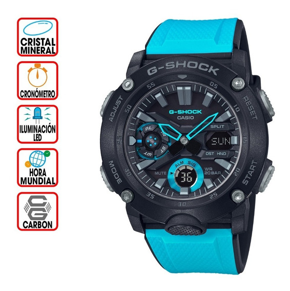 Reloj Casio G-shock Youth Ga-2000-1a2 Carbon Guard