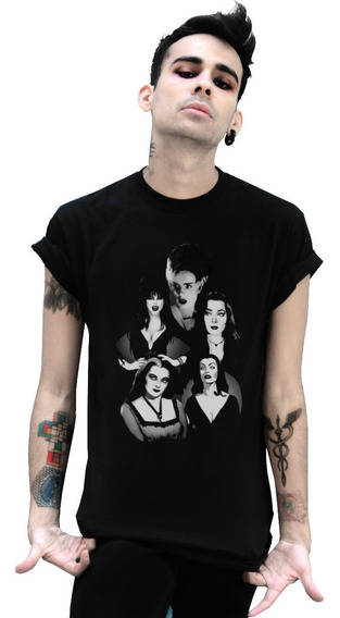 Playera Xxl Xxxl Addams Frankenstein Elvira Terror Goth