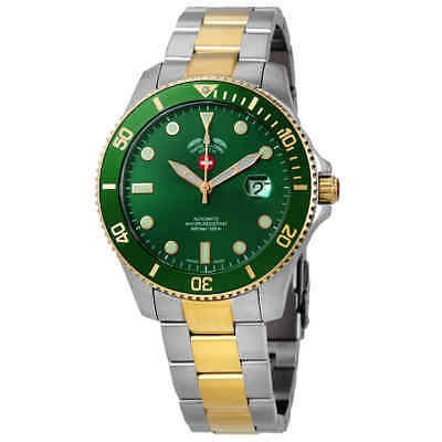 Swiss Military Invincible Green Dial Automático Para Hombr