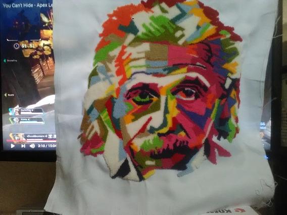Bordado Chino Imagen Einstein, Impresionista...