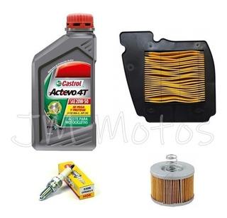 Kit Service Aceite Castrol + Filtros + Bujia Fz 16 Jm Motos