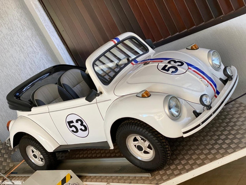 Mini Fusca Herbie Com Carretinha Basculante