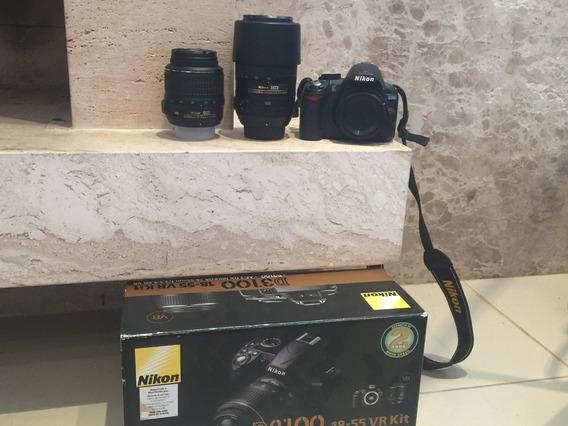 Câmera Nikon D3100 C/ 2 Lentes 55 X 300mm E 18 X 55mm